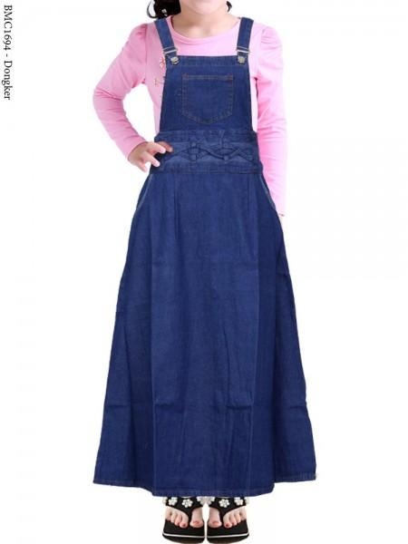 BMC1694 Overall Jeans Anak Tanggung