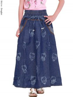 RA314 Rok Jeans Anak Hello Kitty