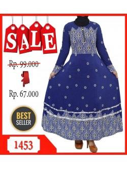 GKS1453 Gamis Jersey Payung Batik Pita