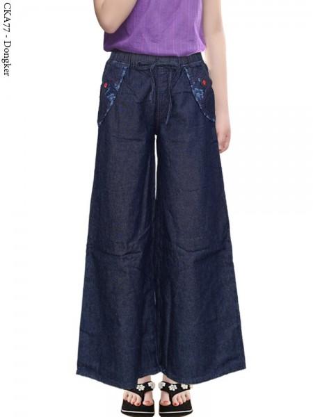 CKA77 Celana Kulot Jeans Anak Tanggung