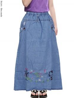 RA301 Rok Jeans Anak Tanggung Bordir Hellokitty