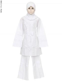 BMC1714 (7-12) Baju Anak Setelan Celana Putih