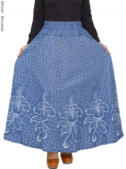 RM1407 Rok Klok Jeans Motif Cantik