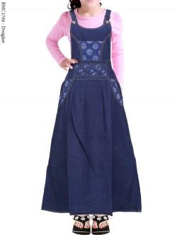 BMC1709 Overall Jeans Anak Tanggung List Motif