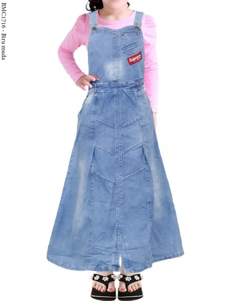 BMC1716 Overall Jeans Anak 7-9th