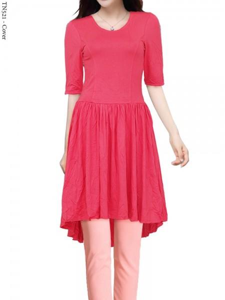 TN521 Dress Tunik Kaos Spandek