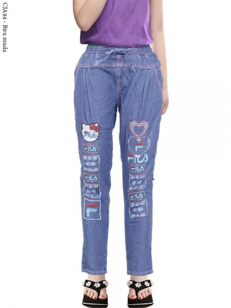 CJA94 Celana Jeans Anak Bordir Fila