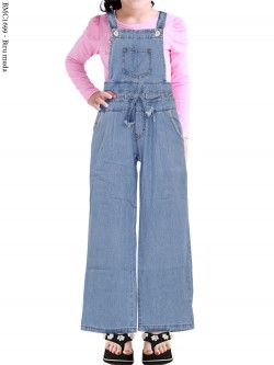 BMC1699 Overall Jeans Anak Kulot