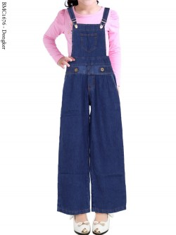 BMC1676 (16-20) Overall Jeans Anak Kulot