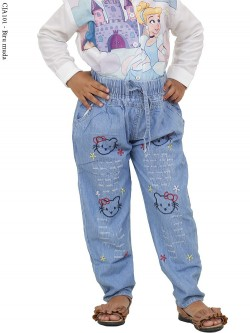 CJA101 (8-12) Celana Jeans Anak Bordir