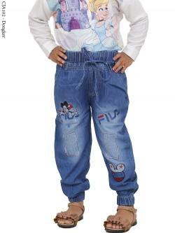 CJA102 Celana Jogger Anak Bordir Fila Mickey Mouse