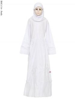 BMC1710 (all-size) Gamis Katun Anak Tanggung Putih