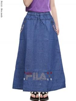 RA332 Rok Jeans Anak Bordir Fila