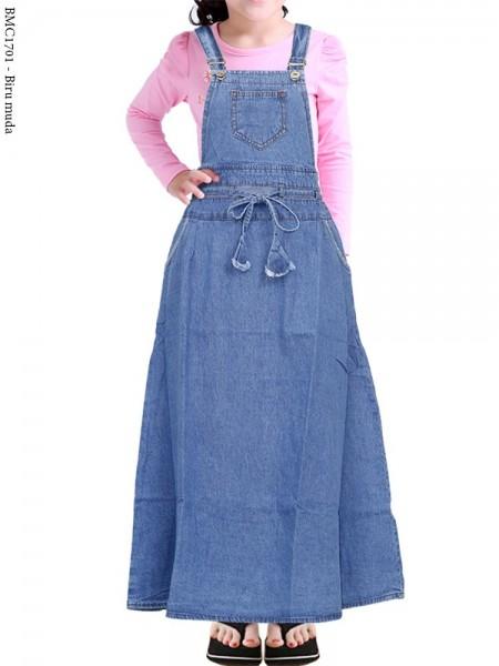 BMC1701 Overall Jeans Anak Tanggung