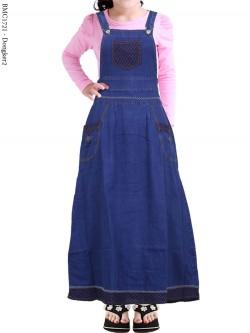 BMC1721 Overall Jeans Anak Tanggung List Motif