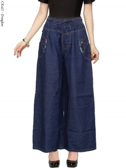 CK427 Celana Kulot Jeans List Motif