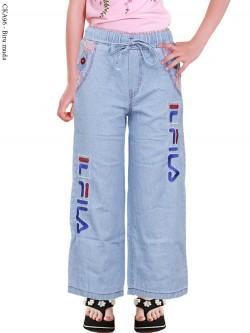 CKA96 Celana Kulot Jeans Anak Bordir Fila