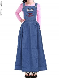 BMC1718 (2-12) Overall Jeans Anak Mickeymouse