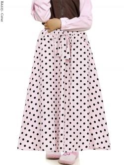 RA223 Rok Anak Katun Linen Umbrella polkadot