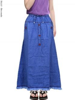 RA337 Rok Jeans Anak Tanggung List Motif