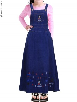 BMC1728 (22-26) Overall Jeans Anak Tanggung mickeymouse