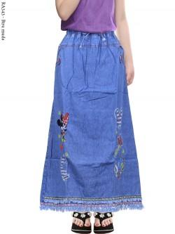 RA343 Rok Jeans Anak Rawis Bordir Mickeymouse