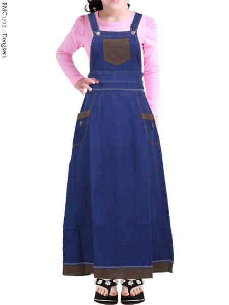 BMC1722 (16-20) Overall Jeans Anak List Motif
