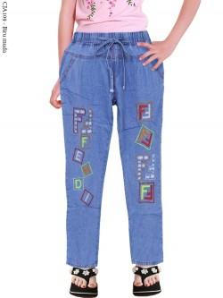 CJA109 Celana Jeans Anak Bordir Fendi