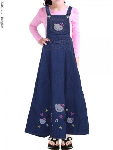 BMC1719 (16-20) Overall Jeans Anak bordir Hellokitty