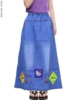 RA347 Rok Jeans Anak Tanggung Bordir Hellokitty