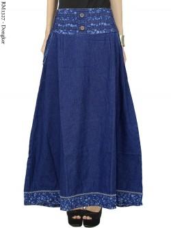 RM1327 Rok Jeans Remaja/Dewasa Payung List bunga