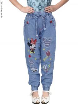 CJA88 Celana Jogger Anak Bordir Mickey Mouse