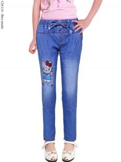 CJA110 Celana Jeans Anak Slimfit HelloKitty
