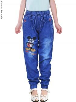 CJA111 Jogger Jeans Anak Slimfit mickeymouse