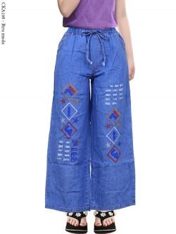 CKA108 Celana Kulot Jeans Anak Bordir Fila