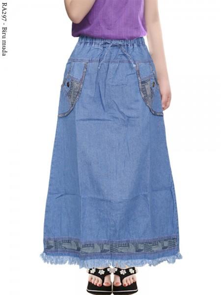 RA297 Rok Jeans Anak Tanggung Rawis 6-11th