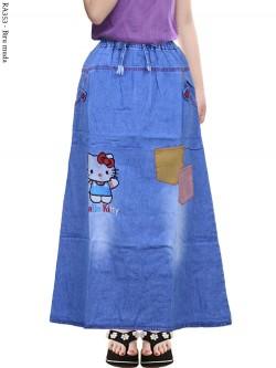 RA353 Rok Jeans Anak Tanggung Bordir Hellokitty