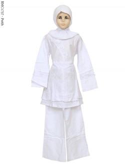 BMC1737 (7-12) Baju Anak Setelan Celana Putih