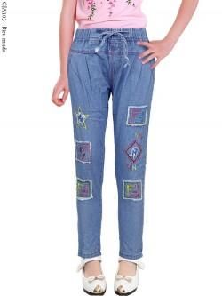 CJA103 Celana Jeans Anak Bordir Fendi
