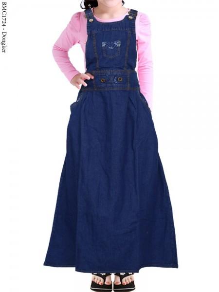 BMC1724 Overall Jeans Anak Tanggung