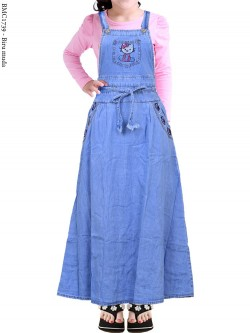 BMC1739 (22-26) Overall Jeans Anak Tanggung Hellokitty
