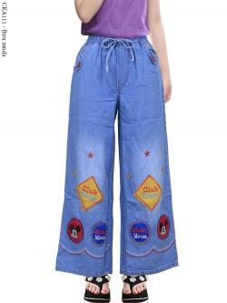 CKA111 Celana Kulot Jeans Anak Tanggung Bordir