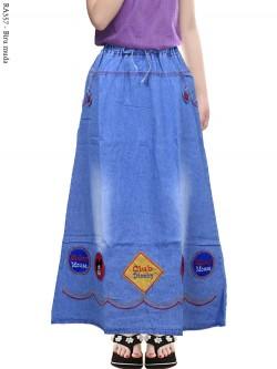 RA357 Rok Jeans Anak Tanggung Bordir