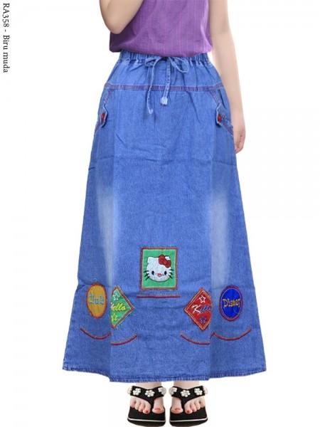 RA358 Rok Jeans Anak Tanggung Bordir