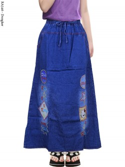 RA346 Rok Jeans Anak Tanggung Bordir Hellokitty