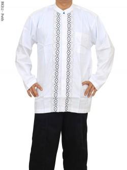 BKJ52 Baju Koko Albatar Jumbo Putih Lengan Panjang