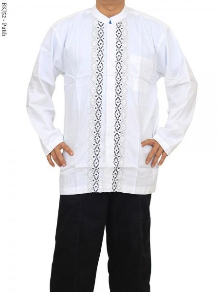 BKJ52 Baju Koko Albatar Jumbo Putih Bordir
