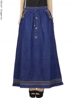 RM1387 Rok Jeans panjang Liat Jahitan Rantai