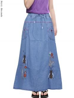 RA315 Rok Jeans Anak Tanggung Motif Bordir