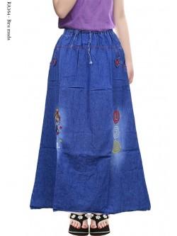 RA364 Rok Jeans Anak Tanggung Bordir LOL